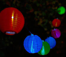set of 10 outdoor solar string lights tropical colors buy now
