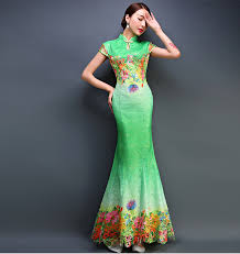 image gallery of green chinese dresses