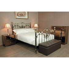 queen size bronze gold antique brass bed