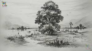 beautiful landscape sketching beatiful landscape