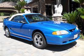 1998 convertible mustang bright atlantic blue 1998 ford mustang convertible