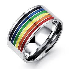blue titanium wedding band blue titanium ring titanium wedding bands men ring chesele