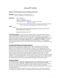 syllabus kennesaw state university college of science and
