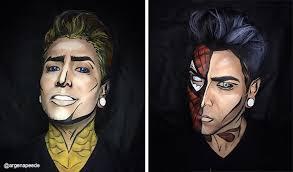 Website For Makeup Artist Makeup Artist Transforms Himself Into Superheroes Using Nothing