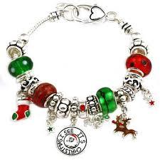 themed charm bracelet christmas theme pandora inspired charm bracelet silver plated