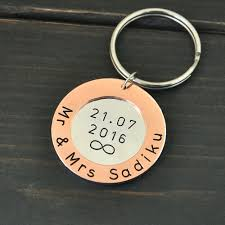 personalized keychain gifts personalized keychain anniversary gift for husband anniversary