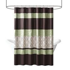 Green And Brown Shower Curtains Geometric Shower Curtains You U0027ll Love Wayfair