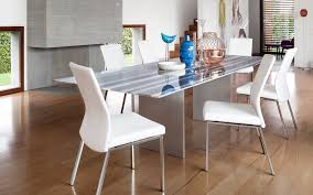 contemporary dining table metal natural stone rectangular