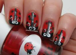 ladybird inspired nail art chalkboard nails nail art blog