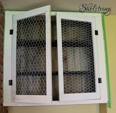 wire cabinet doors u0026 wire grids provide ventilation or add