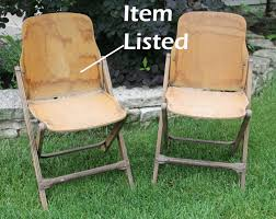 Vintage Outdoor Folding Chairs Vintage Wood Folding Chair Government Issue 1940s Military