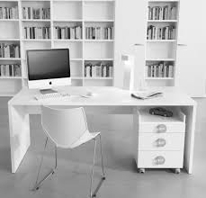 L Shaped White Desk by L Shaped White Wooden Study Desk With Storage And Brown Wooden Top
