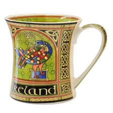 amazon com irish breakfast tea celtic peacock designed tin