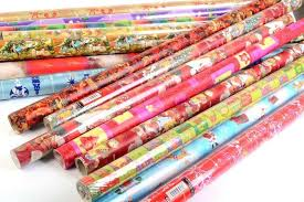 wrapping paper roll decore