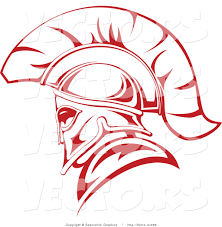 vector of a red roman soldier outline by vector tradition sm 459