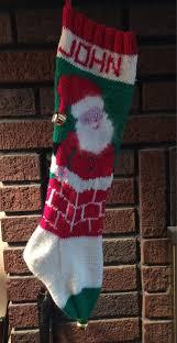kit for vintage personalized knit santa in chimney