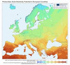 Germany Map Europe by Map Of Europe U0027s Solar Potential The Amount Of Incident Solar