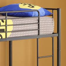 walker edison premium twin over twin metal bunk bed multiple