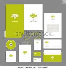 stationery set corporate identity design vector stationery set stock vector