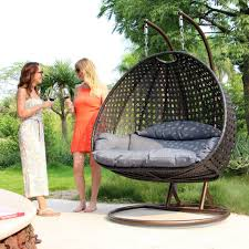 Hanging Chair Hammock 2 Person Outdoor Furniture Wicker Swing Patio Egg Basket Hanging