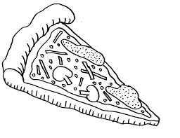 pizza coloring pages of food foods coloring pages of