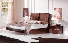 Wood Headboard Ideas Bedroom Dark Teak Wood Bed Frame Above Brown Area Rug And Under