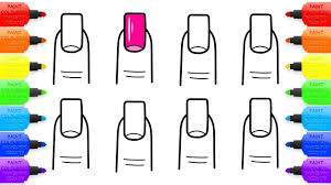 coloring book nail art design for girls drawing for baby and kids