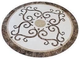 marble floor medallion 36 waterjet cut