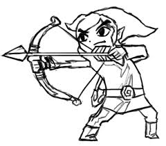 black and white toon link pictures to pin on pinterest pinsdaddy