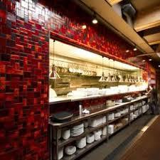 Restaurant Kitchen Design Open Kitchen Design With Lots Of Bar Seating Chalkboard Menus
