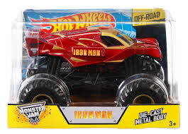 monster truck show florida amazon com wheels monster jam 1 24 die cast ironman vehicle