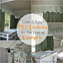 How To Install Valance Pop Up Camper Makeover The Curtains Part 1 The Pop Up Princess