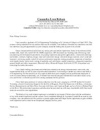 engineering intern cover letter examples