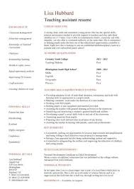teaching assistant cv sample teacher cv example children