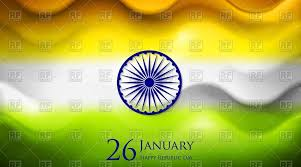 smooth waves background in colors of indian flag vector clipart