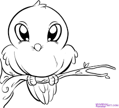 birds drawing for kids drawings of love birds how to draw a cute