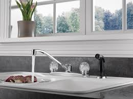 peerless single handle kitchen faucet with side sprayer chrome