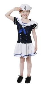 sports halloween costumes for girls amazon com henbrandt girls sailor costume clothing