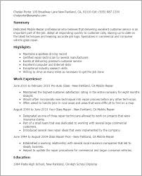 Resume Examples Mechanic by Professional Mobile Repair Templates To Showcase Your Talent