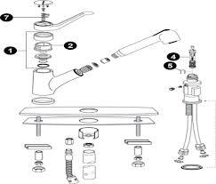 repairing moen kitchen faucet single handle moen single handle faucet repair 7400 parts diagram delta kitchen