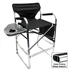 Folding Directors Chair With Side Table Deluxe Folding Directors Chair Foldable Chair
