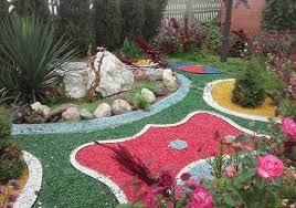 Colored Rocks For Garden Plush Colored Landscaping Rocks Rock Colors Different Textures And