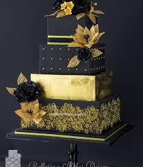 wedding cake gold unconventionally beautiful black and gold wedding cakes