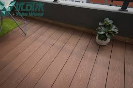 free samples wooden plastic composite hollow wpc decking outdoor