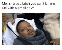 Bad Bitches Meme - me im a bad bitch you can t kill me me with a small cold bad