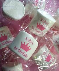 princess party favor pink crown baby shower candy buffet