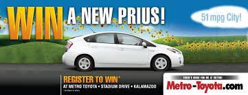 win a toyota prius register to win a prius from metro toyota metro toyota kzoo