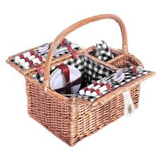 picnic basket for 4 4 person basket black blanket picnic basket shop