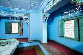 chambre style hindou vieille chambre à coucher de murs dans un style indien image