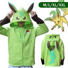 Eevee Halloween Costume Pokemon Eevee Hoodie Flareon Pikachu Cosplay Costume Jacket